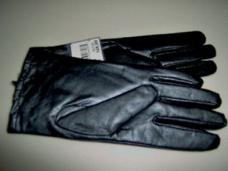 Womens Isotoner BLACK Leather Gloves w/ THINSULATE Sz 8 Extra Large