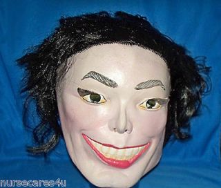 MICHAEL JACKSON DELUXE MASK WITH HAIR ATTACHED, POP SINGER A LEGACY