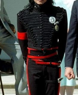 new women men michael jackson jacket sequin cord embroid black