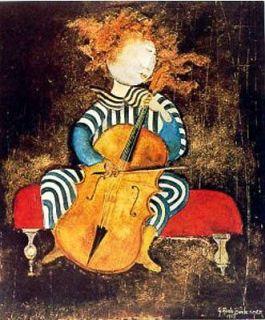 Print Fille Au Violoncelle (violoncello) Graciela Rodo Boulanger