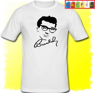 BUDDY HOLLY face T Shirt Mens Womens New Funny Cool GIFT PRESENT