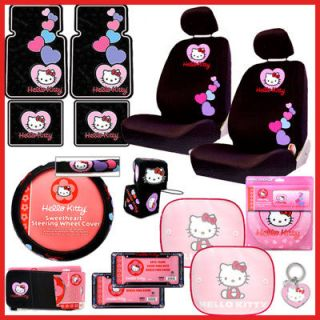 Hello Kitty Car Seat Cover Auto Accessories Set Low Bak