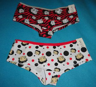 Betty Boop Intimates Zebra Polka Dots Panties Underwear Boyshorts