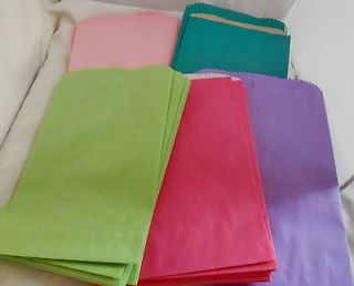 25 Multi Color Assortment 6x9 Paper Party Merchandise Bags, Hot Pink