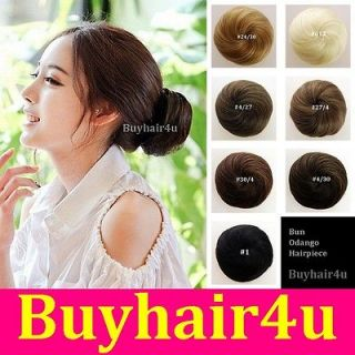 Bun Updo Woman Chignon Extensions New Hairpiece Clip in on Hair Piece