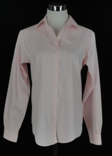 BROOKS BROTHERS 346 Pink Non Iron Classic L/S Button Down Shirt Womens