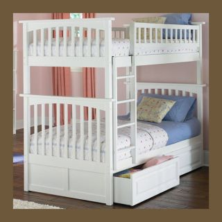 Girls Twin over Twin Bunk Bed   White