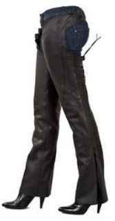 New Womens Low Rise Cowhide Leather Chaps