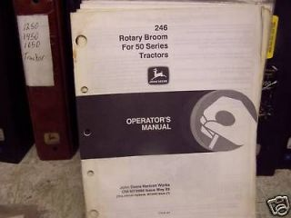 JOHN DEERE 246 BROOM FOR 50 SERIES OPERATORS MANUAL