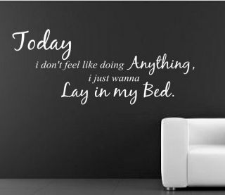 BRUNO MARS LAZY SONG Wall Art Sticker Mural quote rc 47
