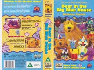 IN THE BIG BLUE HOUSE BIRTHDAY PARTIES VHS VIDEO PAL~ A RARE FIND