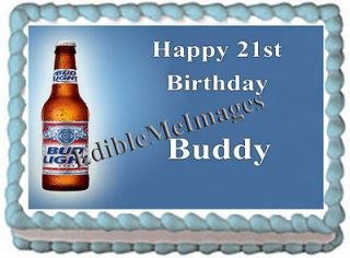 BUD LIGHT Birthday Party Cake Topper Cupcake Decoration Bachelor 21st