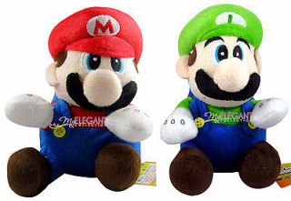 Nintendo Super Mario Brothers Bros Mario and Luigi 7 Stuffed Toy