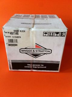 Briggs and Stratton SB #13 HORZ 491146 SHORT BLOCK NEW $169.00 FREE