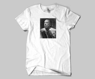 Charles Bukowski holding his Typewriter T Shirt