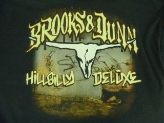 Brooks & Dunn Men 2XL Black Cotton Hillbilly Deluxe Country Western