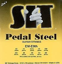 SIT Buddy Emmons E9 E9th Pedal Steel guitar strings