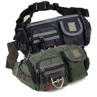 nylon fanny pack cigarette cell phone waist bag belt bum black green