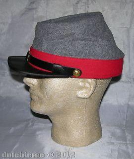 100% Wool Civil War Confederate Artillary Kepi Cap MEDIUM   Civil War