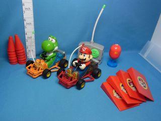Mario Kart Mario & Yossi R/C Remote Control Car Nikko Vey Rare