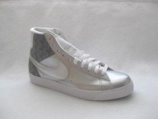 NIKE BLAZER SP MENS HIGH TOP SILVER WHITE LEATHER SHOE SNEAKER SIZE 13