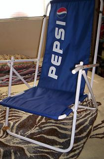 PEPSI beach chair with pepsi can cooler PEPSI STUFF new
