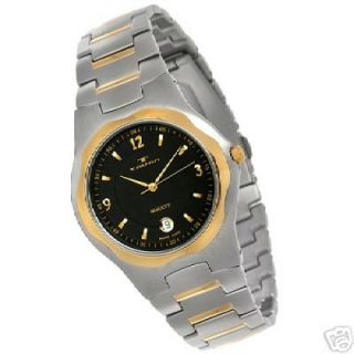 TAVAN PIERRE SWISS MADE MENS TWO TONE QUARTZ WATCH NEW