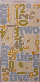 Cloud9 Hannah Scrapbooking Large Number Stickers 078