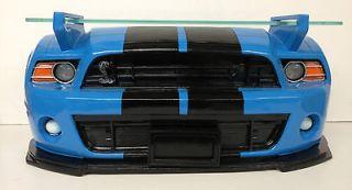 Ford Shelby Mustang Car Working Headlights 3D Replica Wall Shelf Glass