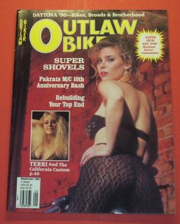 OUTLAW BIKER MAGAZINE SEPT/1990 SUPER SHOVELS..DAYTO NA 90 BIKES