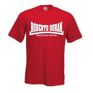 Roberto Duran Manos De Piedra   T Shirt, Boxing Legend, Hands Of