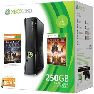 Newly listed Microsoft Xbox 360 S Halo Reach and Fable 3 250 GB Matte