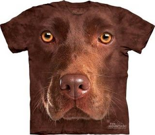 THE MOUNTAIN CHOCOLATE LAB FACE LABRADOR RETRIEVER DOG PUPPY PET SHIRT