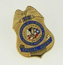 Bureau of Indian Affairs Special Agent Mini Badge Lapel Pin