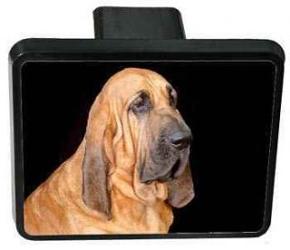 Trailer Hitch Cover   Bloodhound (Black)