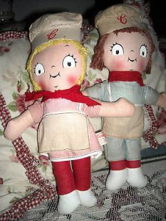 antique vintage cloth Campbell Soup Kids 12 tall