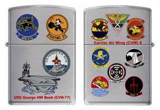 USS George Bush (CVN 77) Zippo MIB Carrier Air Wing 8