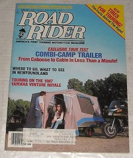 ROAD RIDER CYCLE MOTORCYCLE & CAMPING MAGAZINE COMBI CAMPER TRAILER