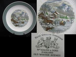 ADAMS ENGLAND Old Winter Scenes DINNER PLATE (s)
