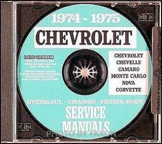 Chevrolet CD Shop Manual Chevelle Monte Carlo El Camino Malibu Laguna