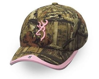 Ladies Browning Gunner Camo Moinf / Pink Cap Hat