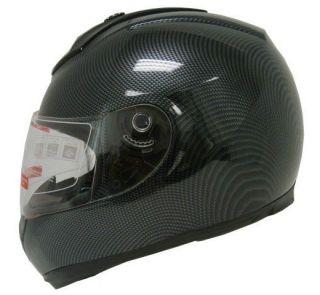 DOT CARBON FIBER FULL FACE MOTORCYCLE STREET HELMET~S/M/L/X L/XXL
