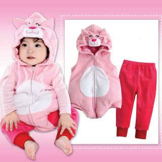 NWT Newborn Baby Girs Fleece Hoodie Outerwear Outfits Sets  Vivid