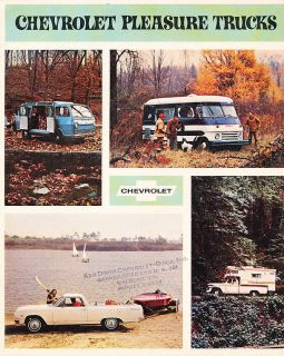 1965 Chevrolet Camper Vans Motorhome Original Dealer Sales Brochure