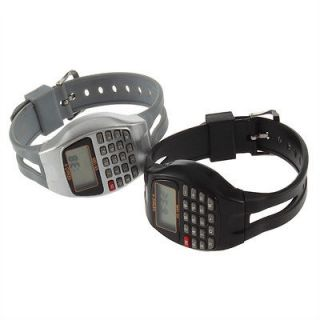 Rectangle Style Multi Purpose Electronic Wrist Calculator Watch HG807