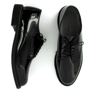 CAPPS Airlite Mens NEW UNIFORM Black Patent Leather Welt Oxford Shoes