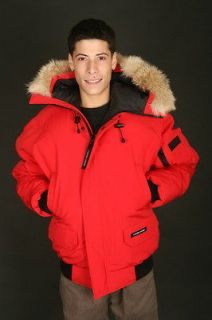 Canada Goose Chilliwack Bomber Parka Mens Jacket in Red (7950M RED)
