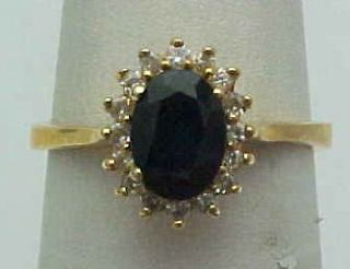 40 Carat Diamond Sapphire Princess Diana Ring Design 14k Gold New In