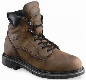 Mens Red Wing 6 Seel oe Waerproof Safey Work Boos New, Brown sku