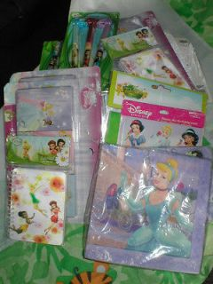 DISNEY PRINCESS BIRTHDAY PARTY SUPPLIES ~ CUPS INVITES NAPKINS CRAYONS